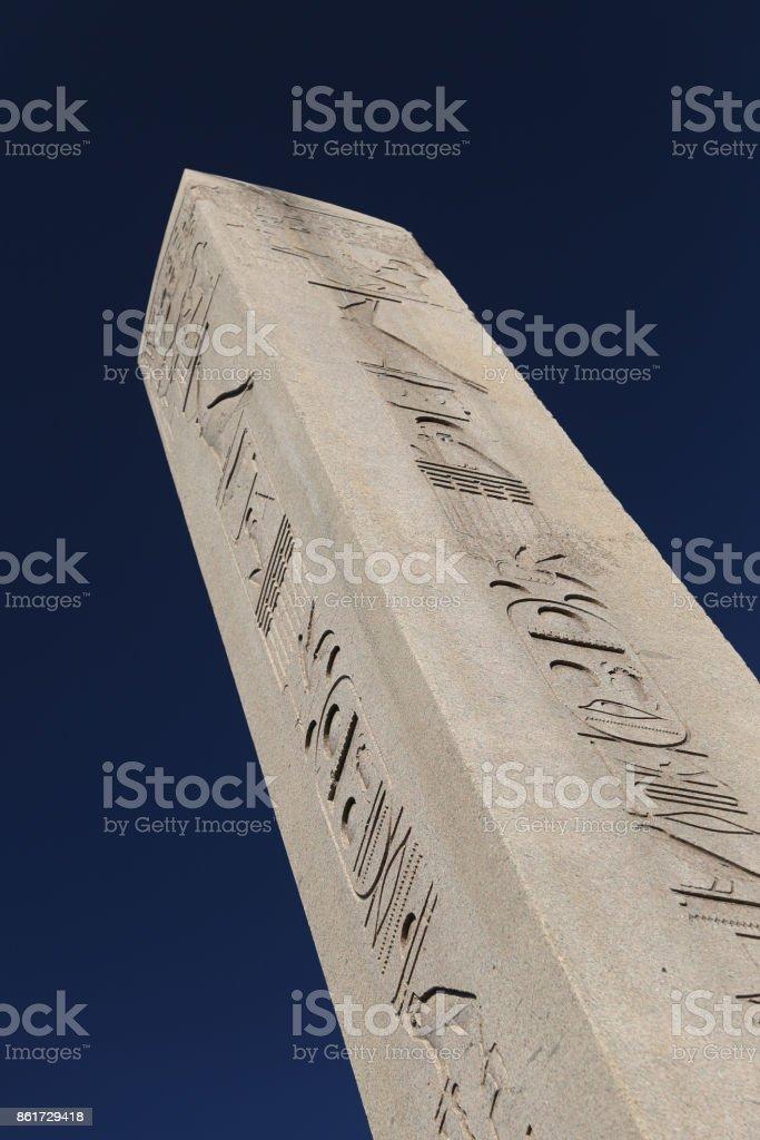 Obelisk of Theodosius in Istanbul City stock photo