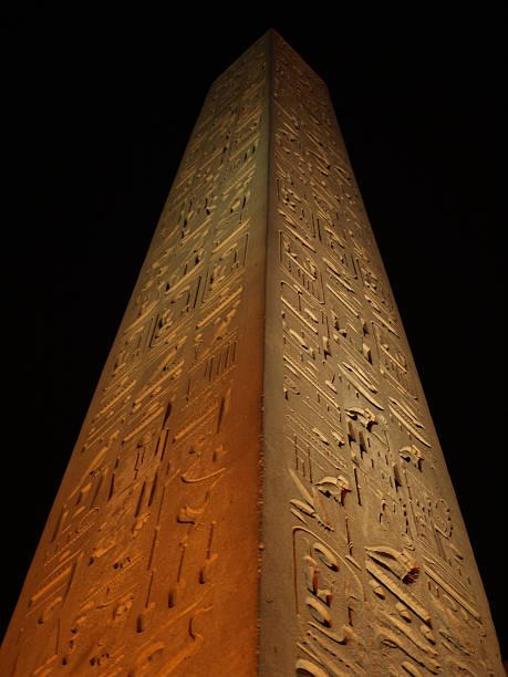 Obelisk outside Luxor Temple stock photo