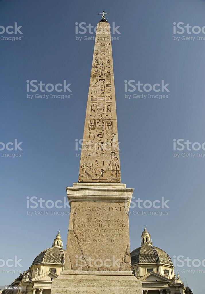 Obelisk in Piazza del Popolo royalty-free stock photo