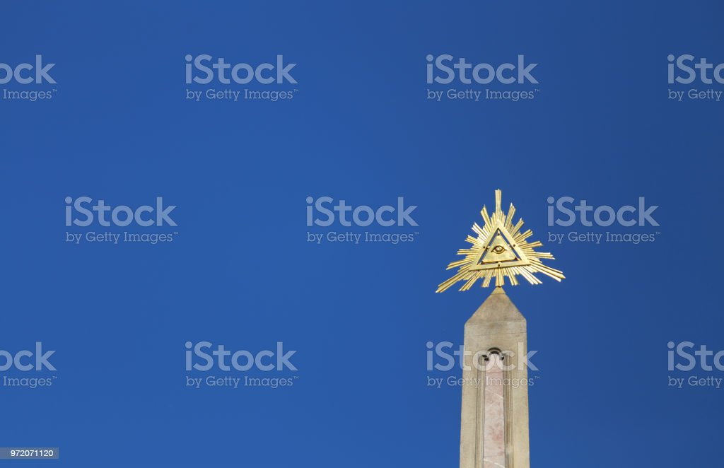 Obelisk With Above The Golden Eye Of Providence Which Is A Symbo