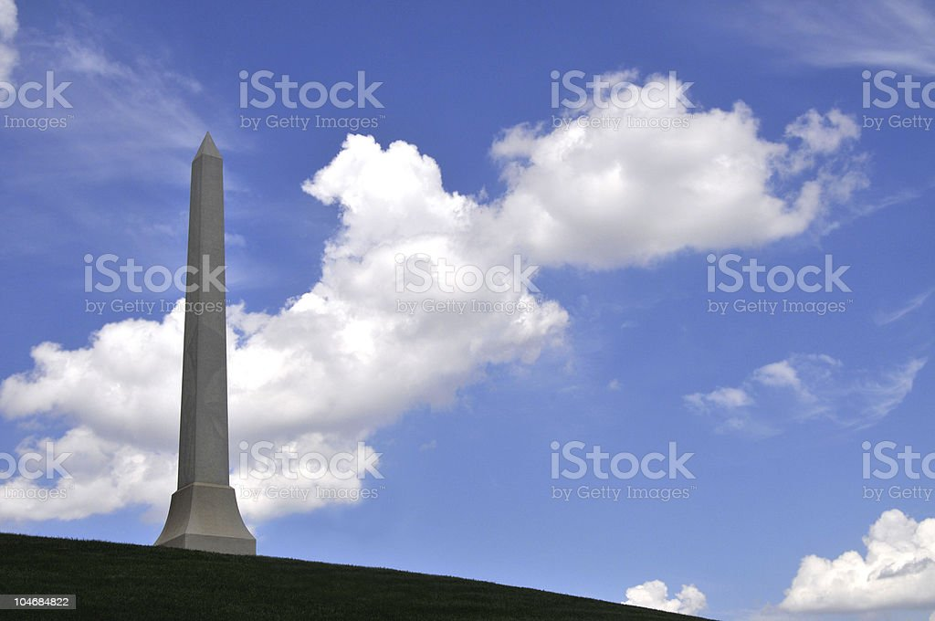 Obelisk with blue sky royalty-free stock photo