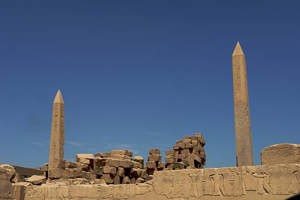 Obelisks, symbol of the god sun Ra in ancient Egypt  animals with big penis stock pictures, royalty-free photos & images