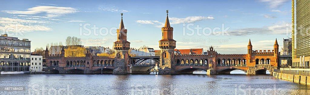 Oberbaum bridge in Belin - Germany stock photo