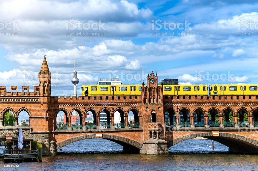 Oberbaum Bridge in Berlin, Germany stock photo