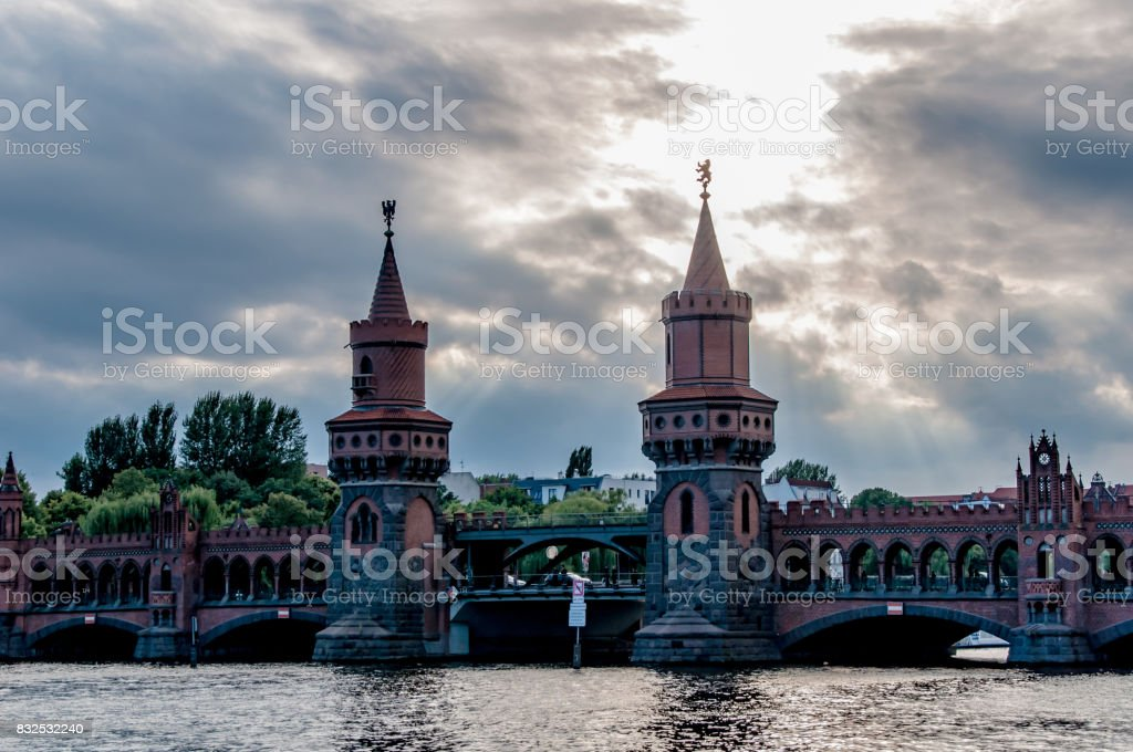 Oberbaumbrücke in Berlin stock photo