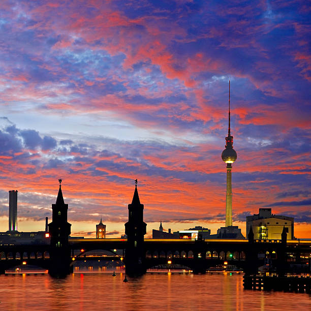 oberbaumbruecke bridge berlin stock photo