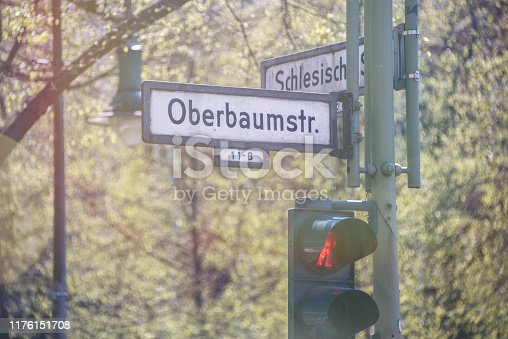 Oberbaumstraße and Schlesische Str. corner, by a restaurant and bar area in Kreuzberg, Berlin