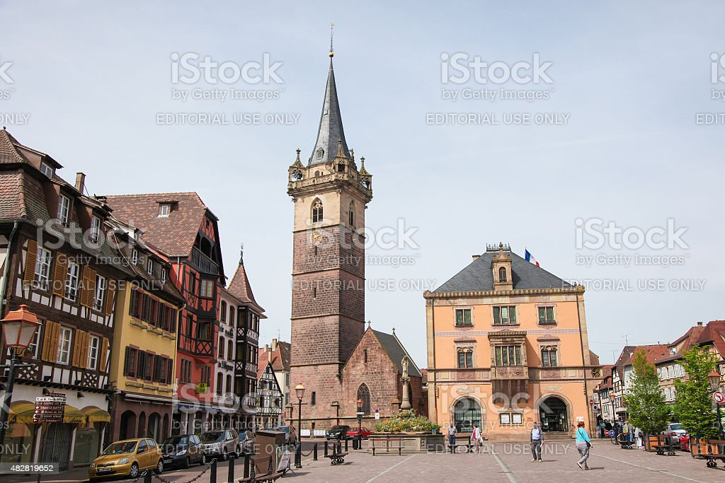Obernai, Alsace, France stock photo