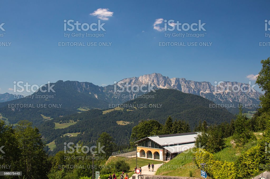 Obersalzberg close to Berchtesgaden in Germany, 2015 stock photo