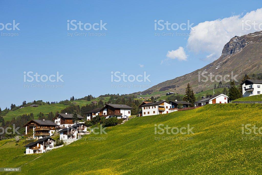 Obersaxen Chalet royalty-free stock photo