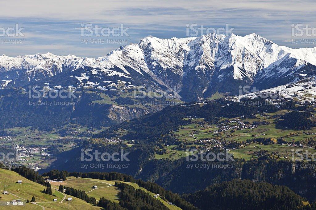 Obersaxen, Ilanz and Signina Group stock photo