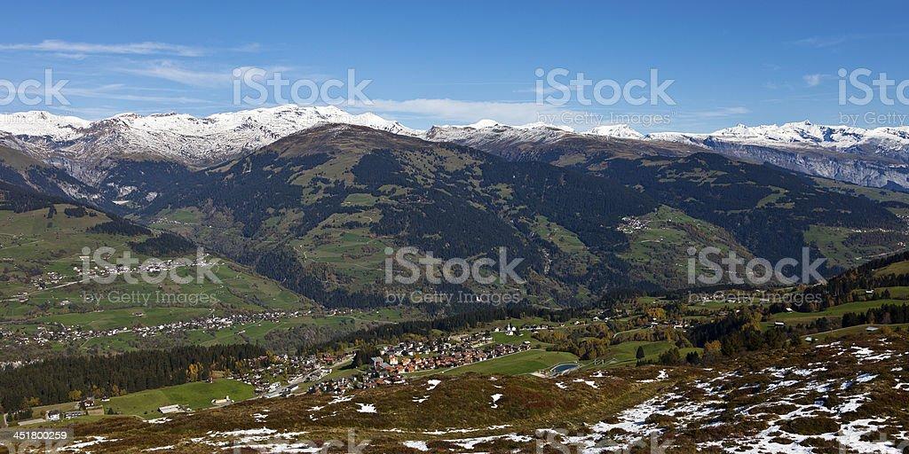 Obersaxen-Misanenga in Surselva stock photo