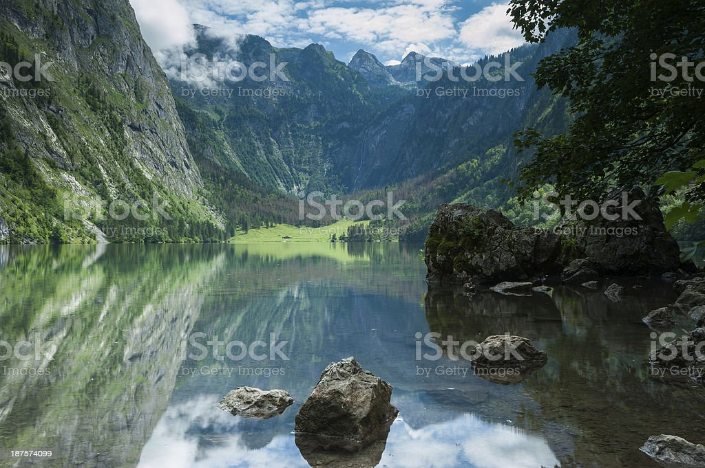 Obersee, Bavarian Scenery royalty-free stock photo