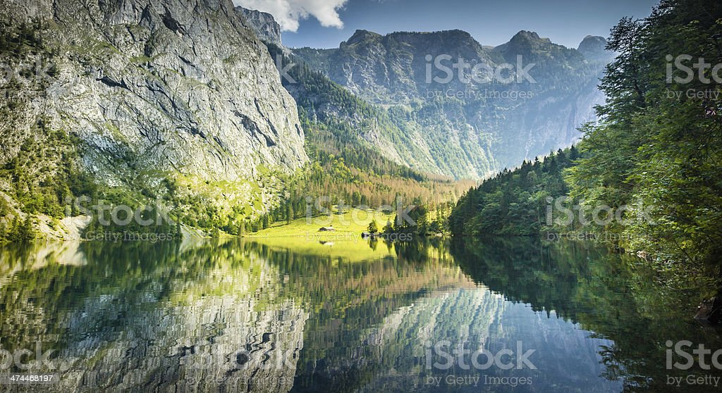 Obersee in Bavaria royalty-free stock photo