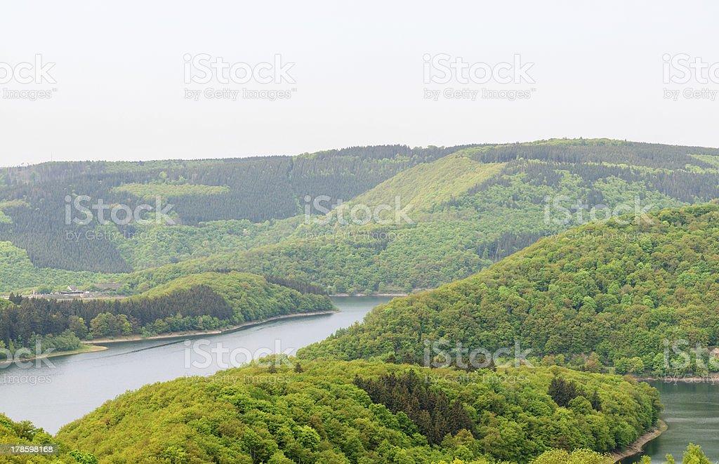 Obersee in Eifel stock photo