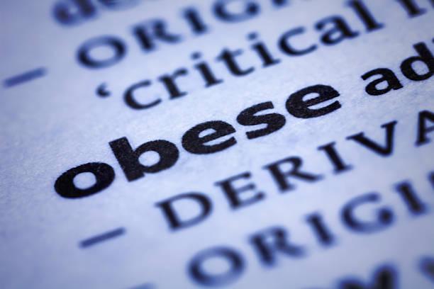 fettleibig: wörterbuch-nahaufnahme - definition krankheit stock-fotos und bilder