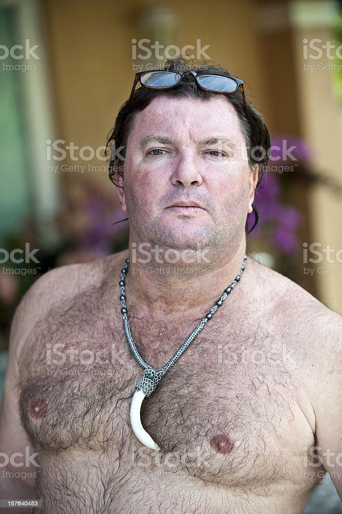 Obese Mature Man Royalty Free Stock Photo