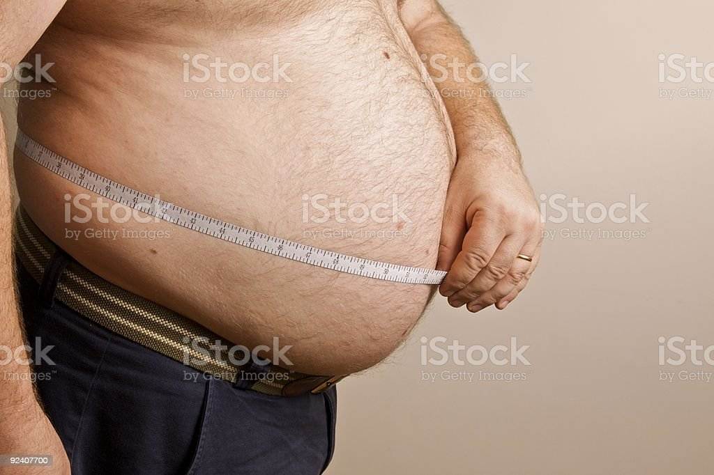 Obese royalty-free stock photo