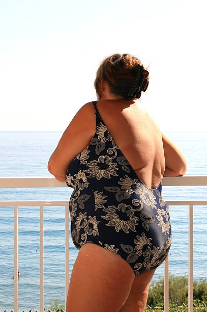 Obese woman stock photo
