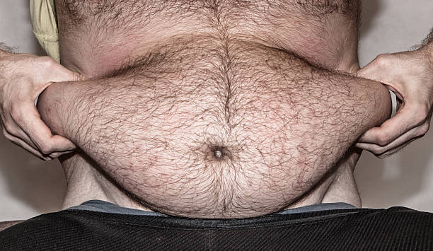 Obesity - fat belly stock photo