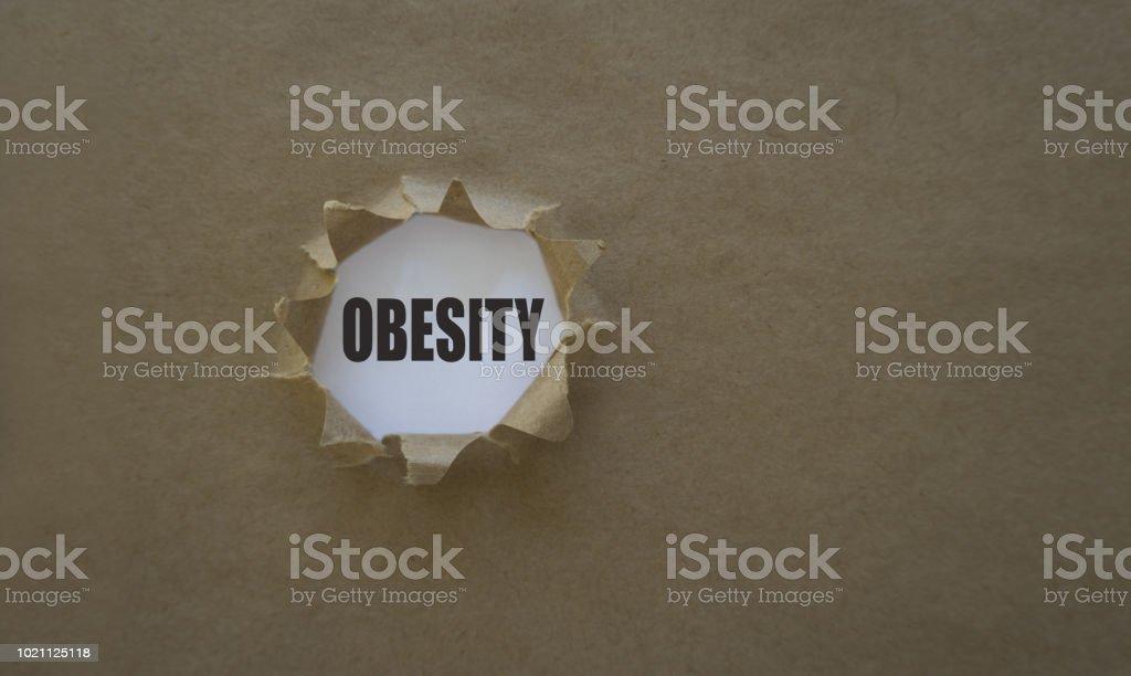 Obesidad En Papel Rasgado Foto De Stock Y Más Banco De