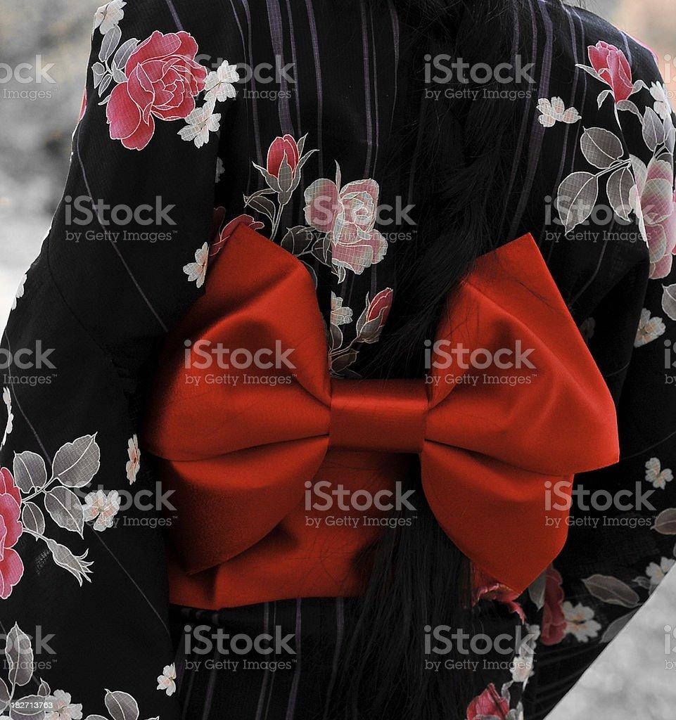 Obi Kimono Sash stock photo