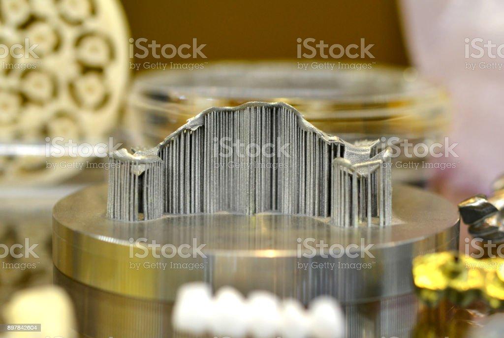object laser sintering machine stock photo