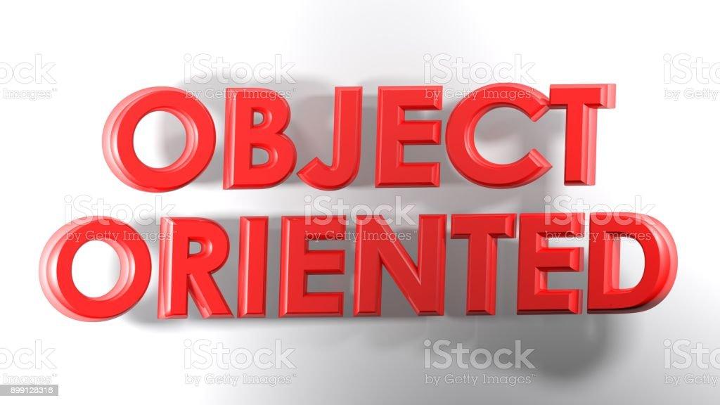 Gravação de objeto orientado vermelho 3D - ilustração de renderização em 3D - foto de acervo
