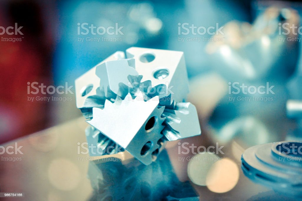 Object printed on metal 3d printer stock photo