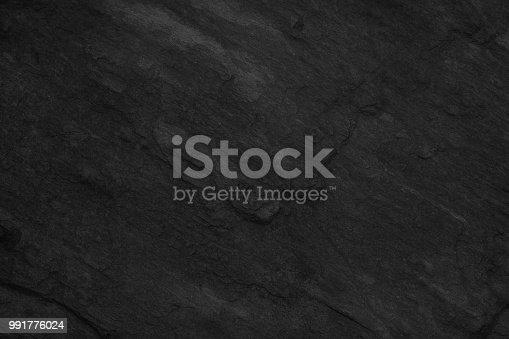 istock Object Stone Material Rock - Tiled Floor Black Stone Dark gray texture background 991776024