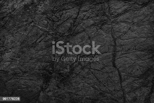 istock Object Stone Material Rock - Tiled Floor Black Stone Dark gray texture background 991776228