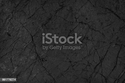 istock Object Stone Material Rock - Tiled Floor Black Stone Dark gray texture background 991776274
