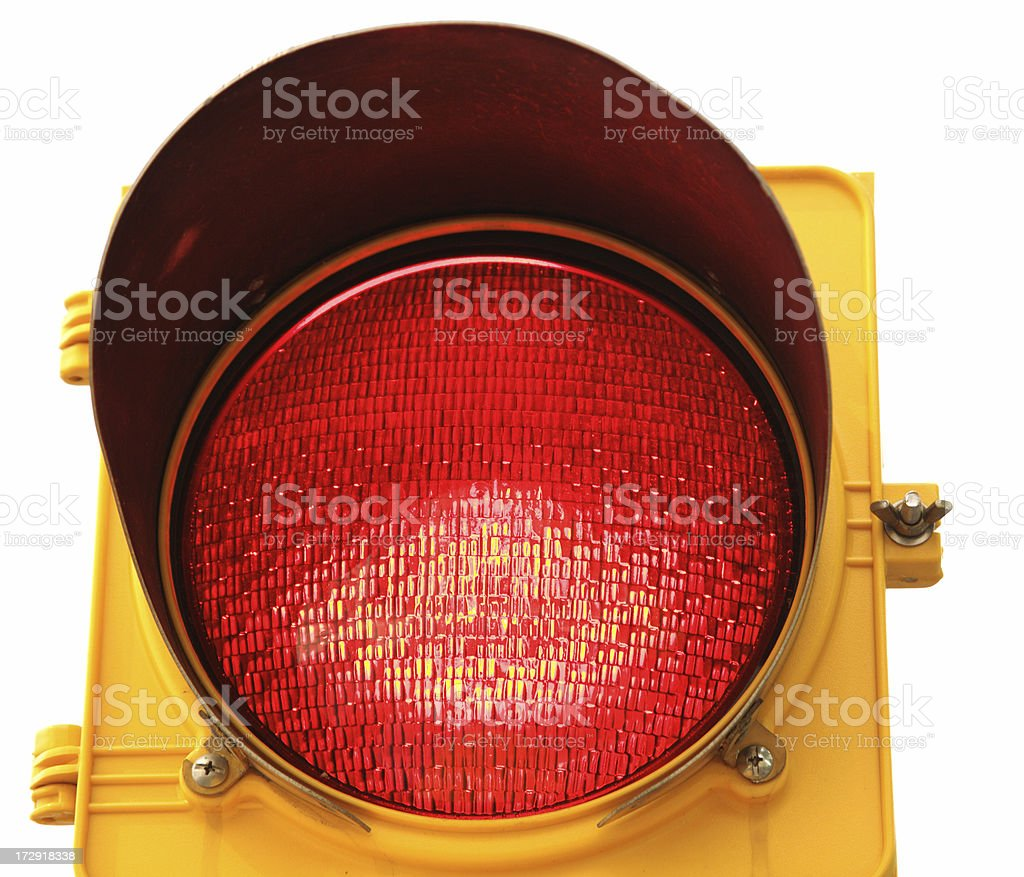 Object White Background Traffic Light Series royalty-free stock photo