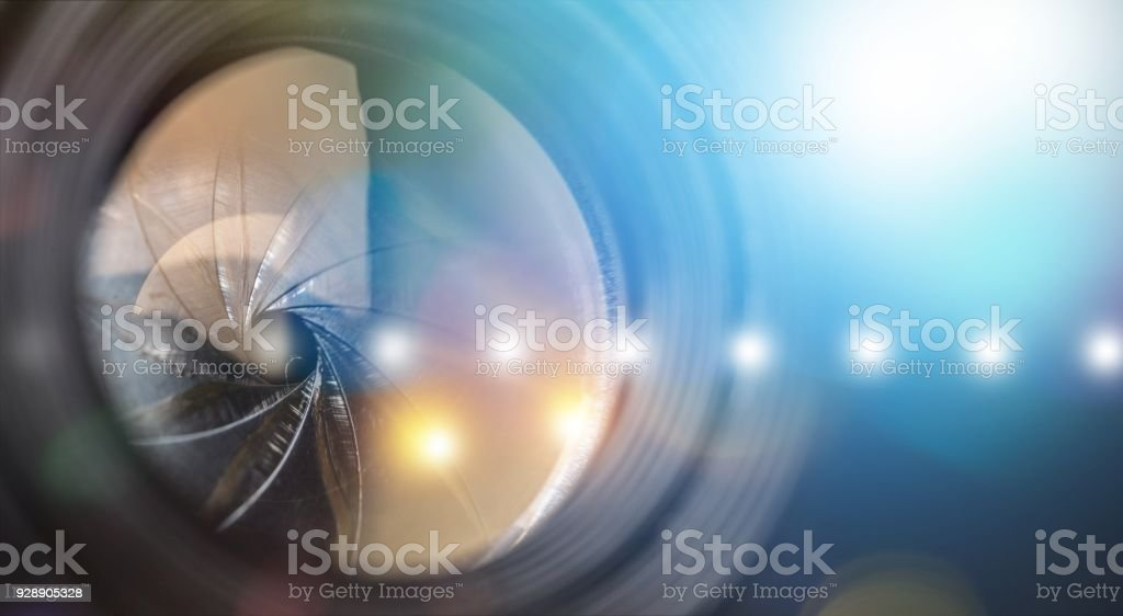 Objective. stock photo