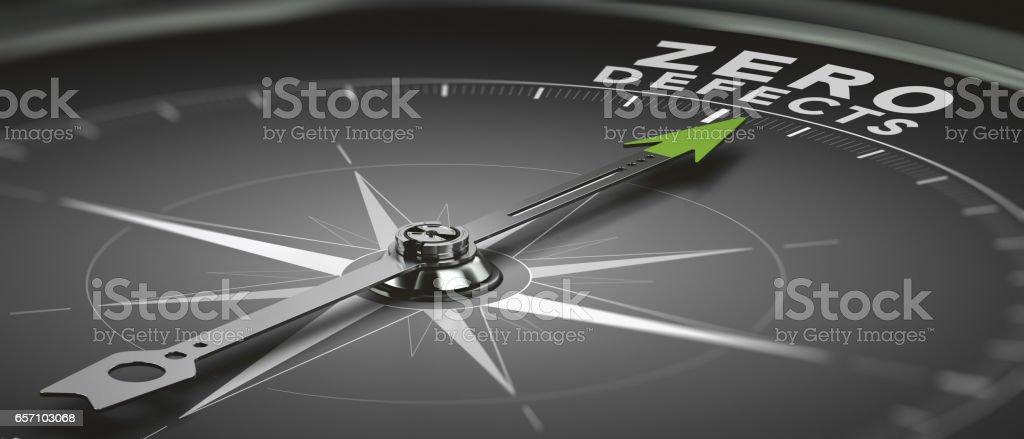 Objective Zero Defects stock photo