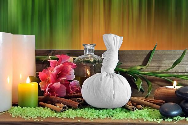 objectos para massagem - foto de acervo