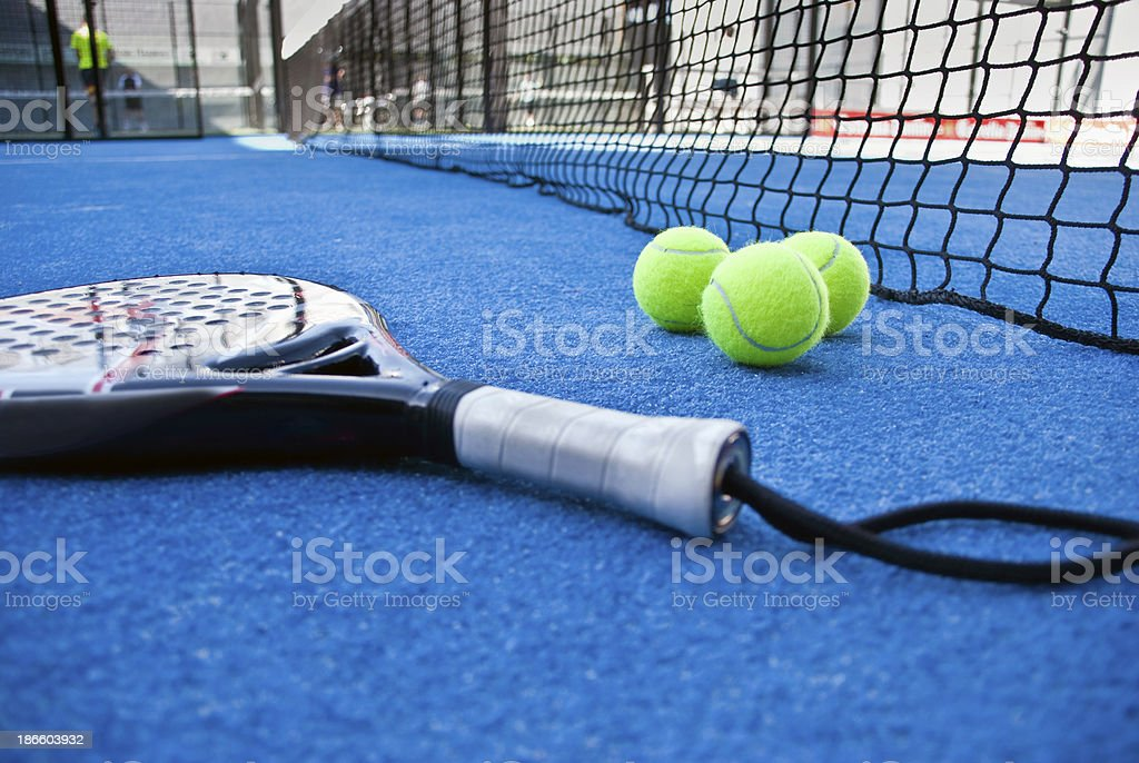 objectos of a paddle tournament stock photo