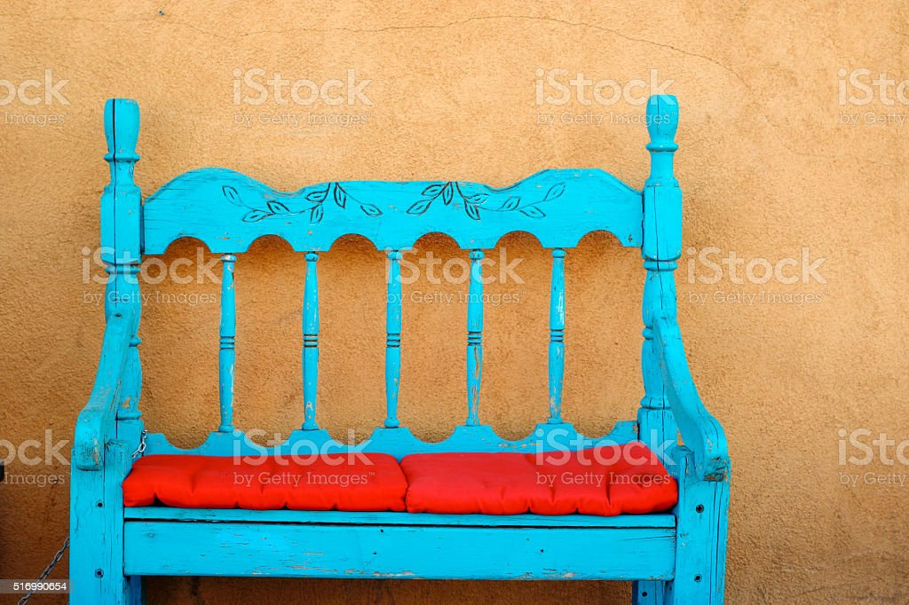 Objects: Chair in Santa Fe stock photo