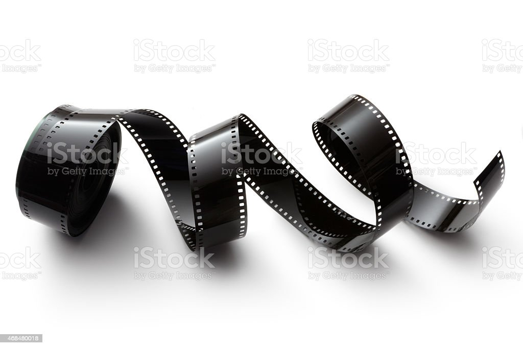 Objects: Film Isolated on White Background stock photo