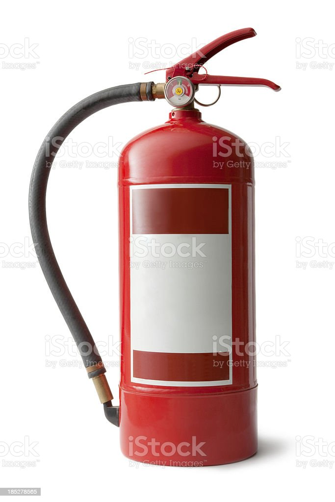 Objects: Fire Extinguisher stock photo