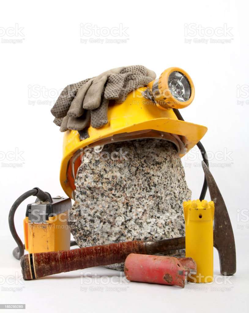Objects for geological exploration stock photo
