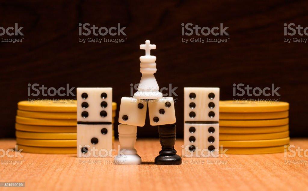 Objetos Para Los Juegos De Mesa Mas Populares Fotografia De Stock