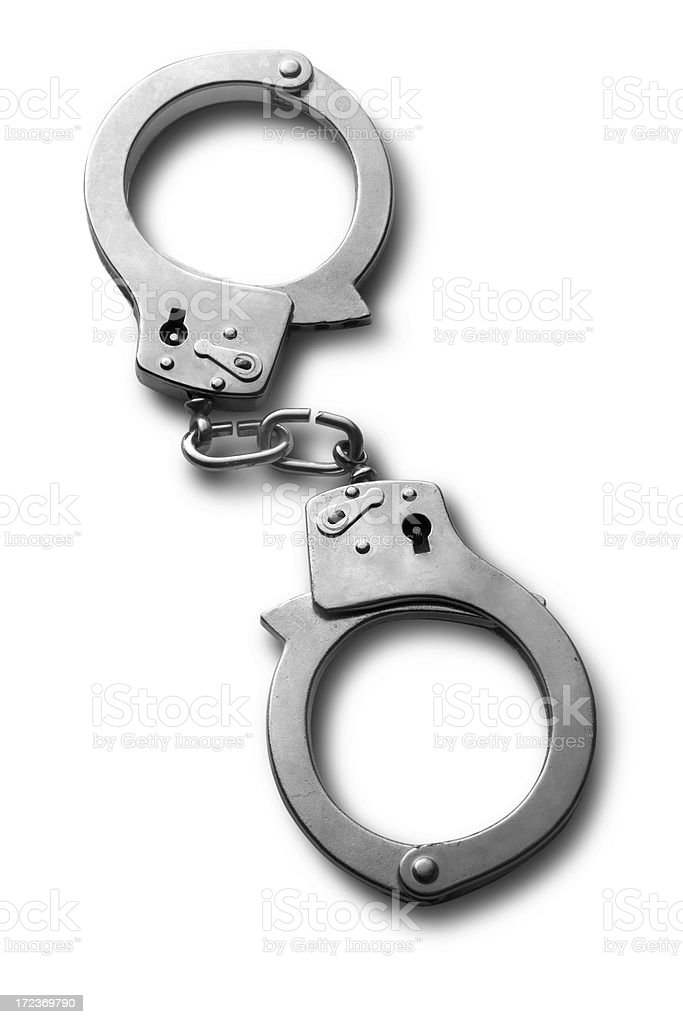 Objects: Handcuffs stock photo