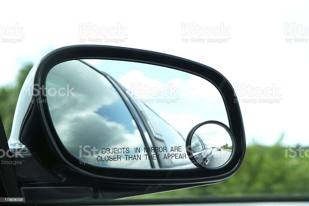 Objects in Mirror Closer - Limo Car Reflection royalty-free stock photo
