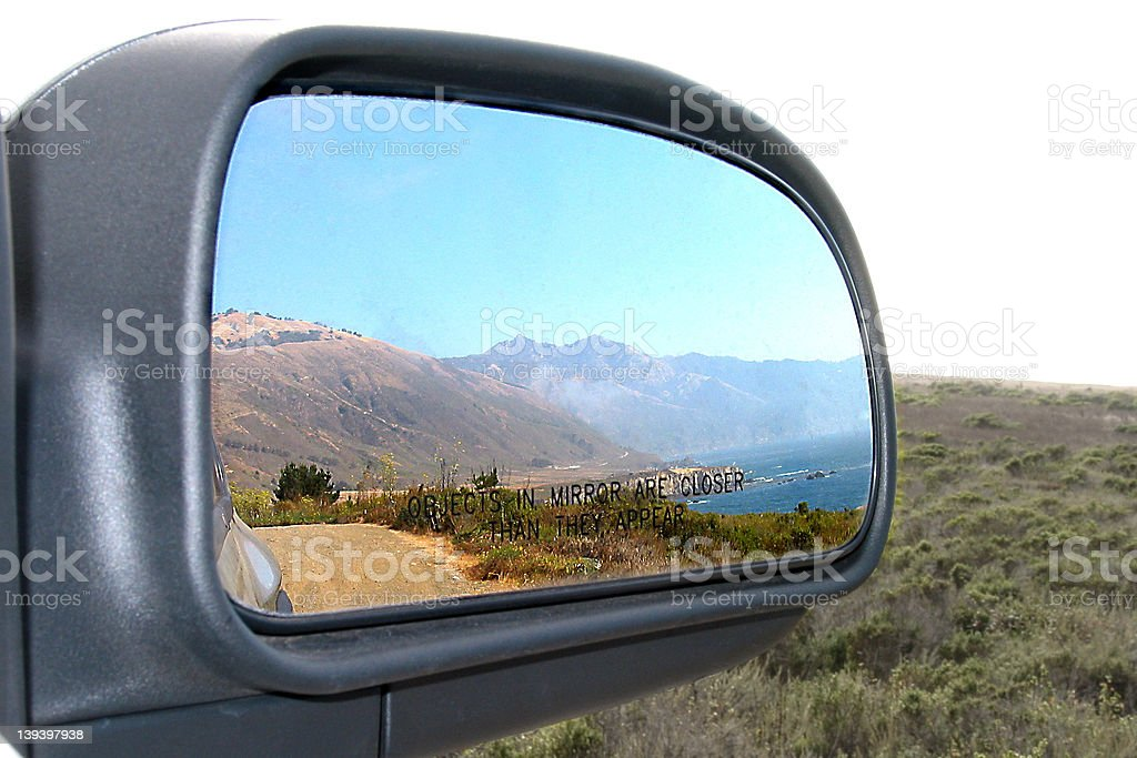 Objects in Mirror stock photo
