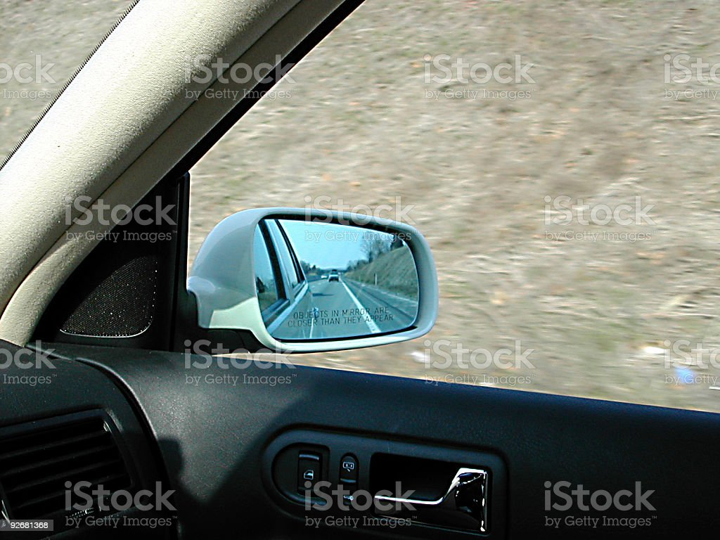 objects in mirror royalty-free stock photo