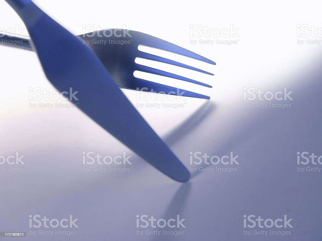 objects: knife & fork royalty-free stock photo