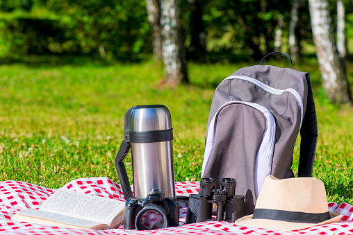 istock objects of a tourist resting in a park on a picnic 943649666