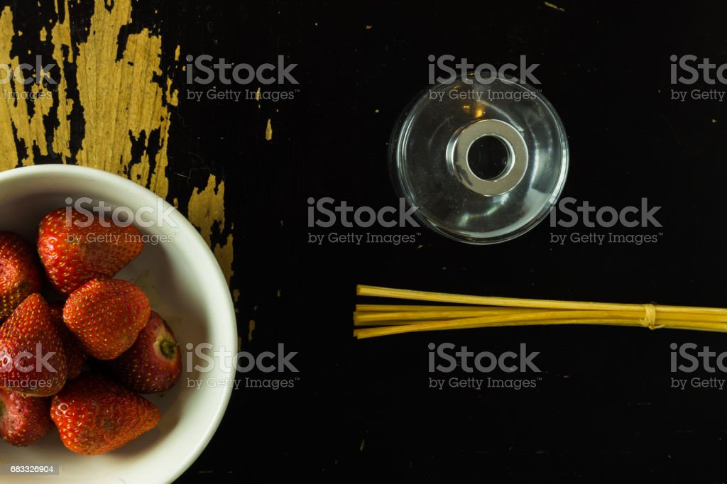objects on wooden surface royalty-free stock photo