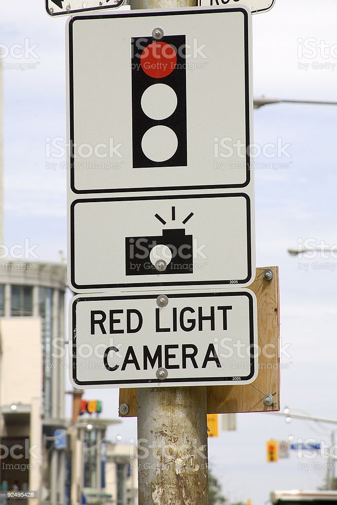 Objects - Red Light Camera royalty-free stock photo